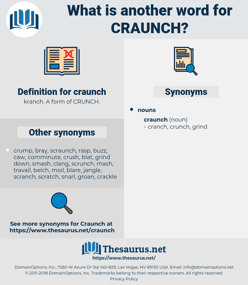 craunch, synonym craunch, another word for craunch, words like craunch, thesaurus craunch