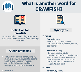 crawfish, synonym crawfish, another word for crawfish, words like crawfish, thesaurus crawfish
