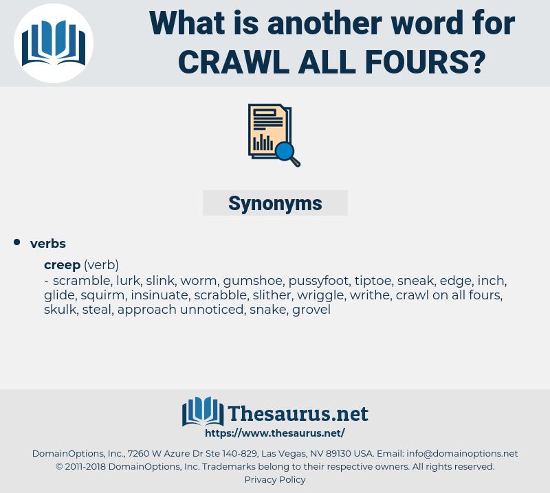 crawl all fours, synonym crawl all fours, another word for crawl all fours, words like crawl all fours, thesaurus crawl all fours