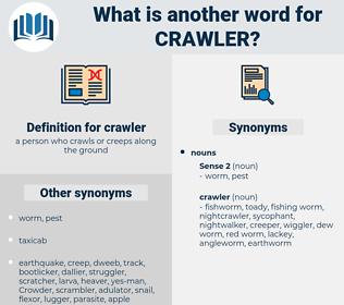 crawler, synonym crawler, another word for crawler, words like crawler, thesaurus crawler