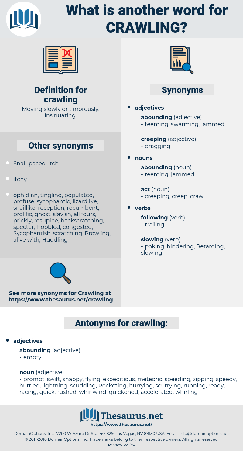 crawling, synonym crawling, another word for crawling, words like crawling, thesaurus crawling