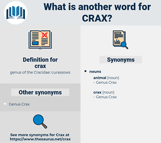 crax, synonym crax, another word for crax, words like crax, thesaurus crax