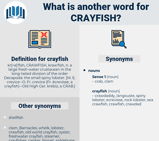 crayfish, synonym crayfish, another word for crayfish, words like crayfish, thesaurus crayfish