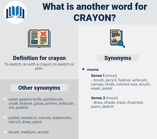 crayon, synonym crayon, another word for crayon, words like crayon, thesaurus crayon