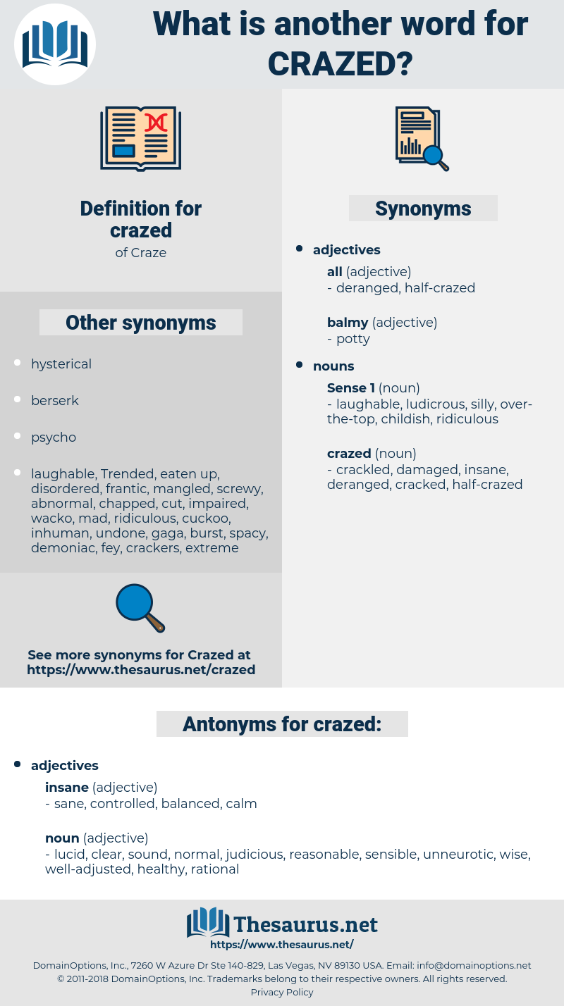 crazed, synonym crazed, another word for crazed, words like crazed, thesaurus crazed