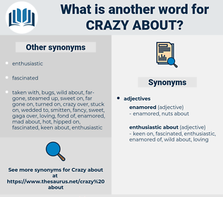 crazy about, synonym crazy about, another word for crazy about, words like crazy about, thesaurus crazy about