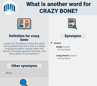 crazy bone, synonym crazy bone, another word for crazy bone, words like crazy bone, thesaurus crazy bone