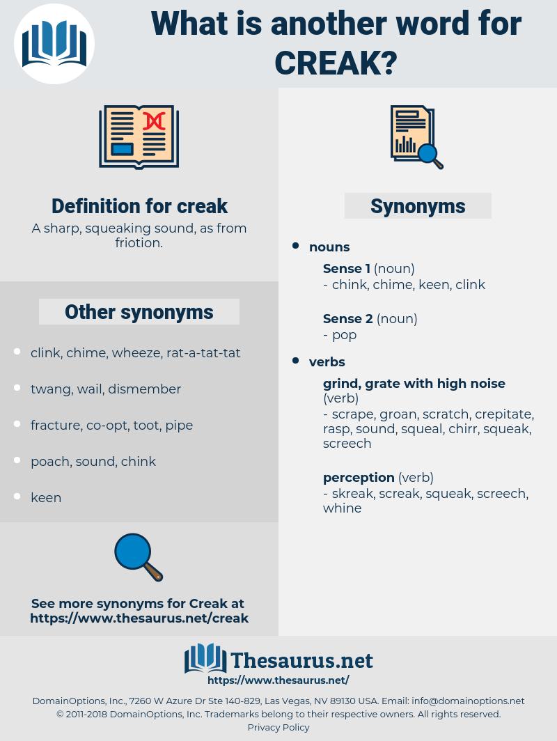creak, synonym creak, another word for creak, words like creak, thesaurus creak