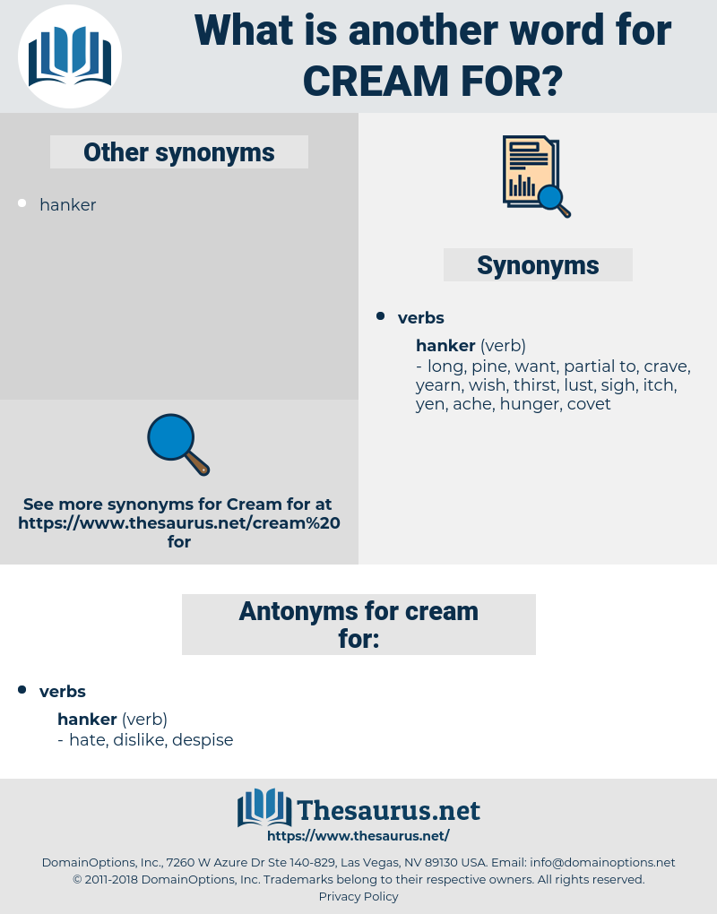 cream for, synonym cream for, another word for cream for, words like cream for, thesaurus cream for