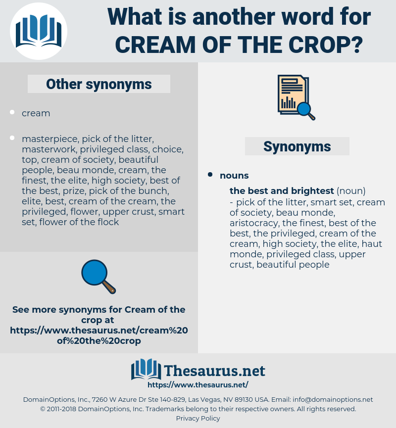 cream of the crop, synonym cream of the crop, another word for cream of the crop, words like cream of the crop, thesaurus cream of the crop