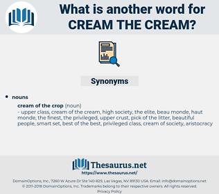 cream the cream, synonym cream the cream, another word for cream the cream, words like cream the cream, thesaurus cream the cream