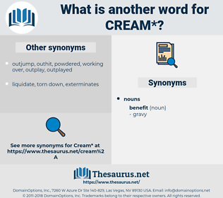 cream, synonym cream, another word for cream, words like cream, thesaurus cream
