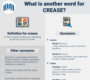crease, synonym crease, another word for crease, words like crease, thesaurus crease