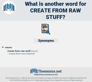 create from raw stuff, synonym create from raw stuff, another word for create from raw stuff, words like create from raw stuff, thesaurus create from raw stuff