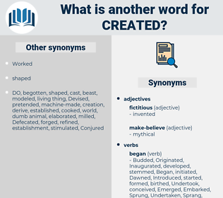 Created, synonym Created, another word for Created, words like Created, thesaurus Created