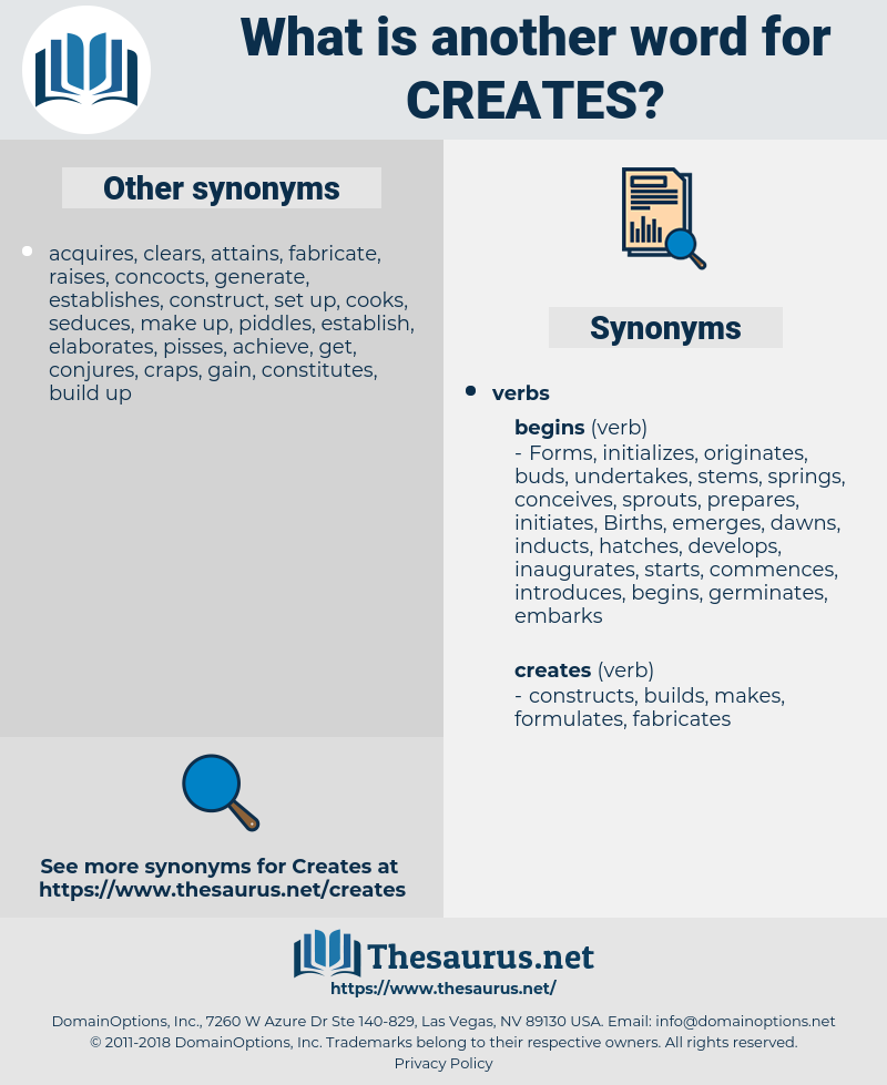 creates, synonym creates, another word for creates, words like creates, thesaurus creates