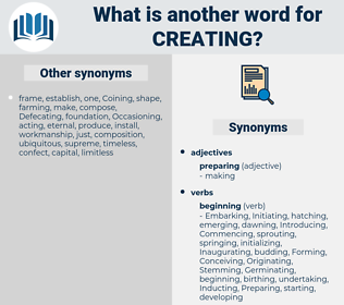 Creating, synonym Creating, another word for Creating, words like Creating, thesaurus Creating