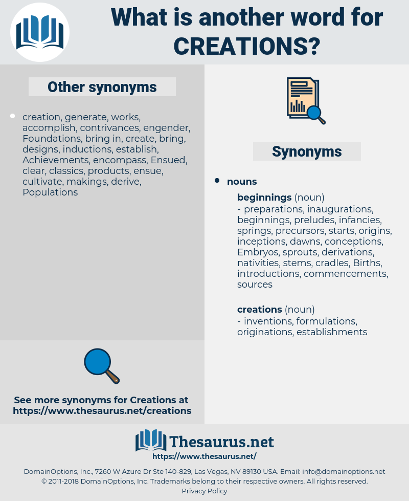 creations, synonym creations, another word for creations, words like creations, thesaurus creations