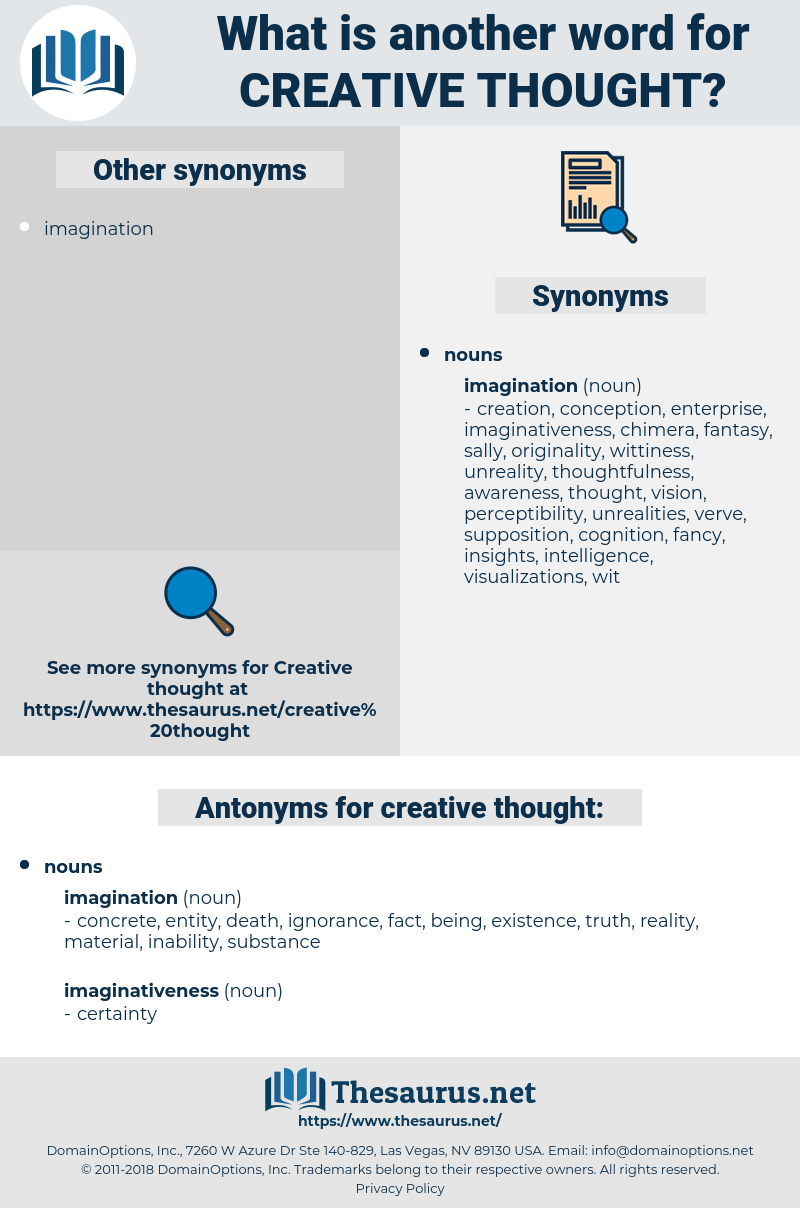 creative thought, synonym creative thought, another word for creative thought, words like creative thought, thesaurus creative thought