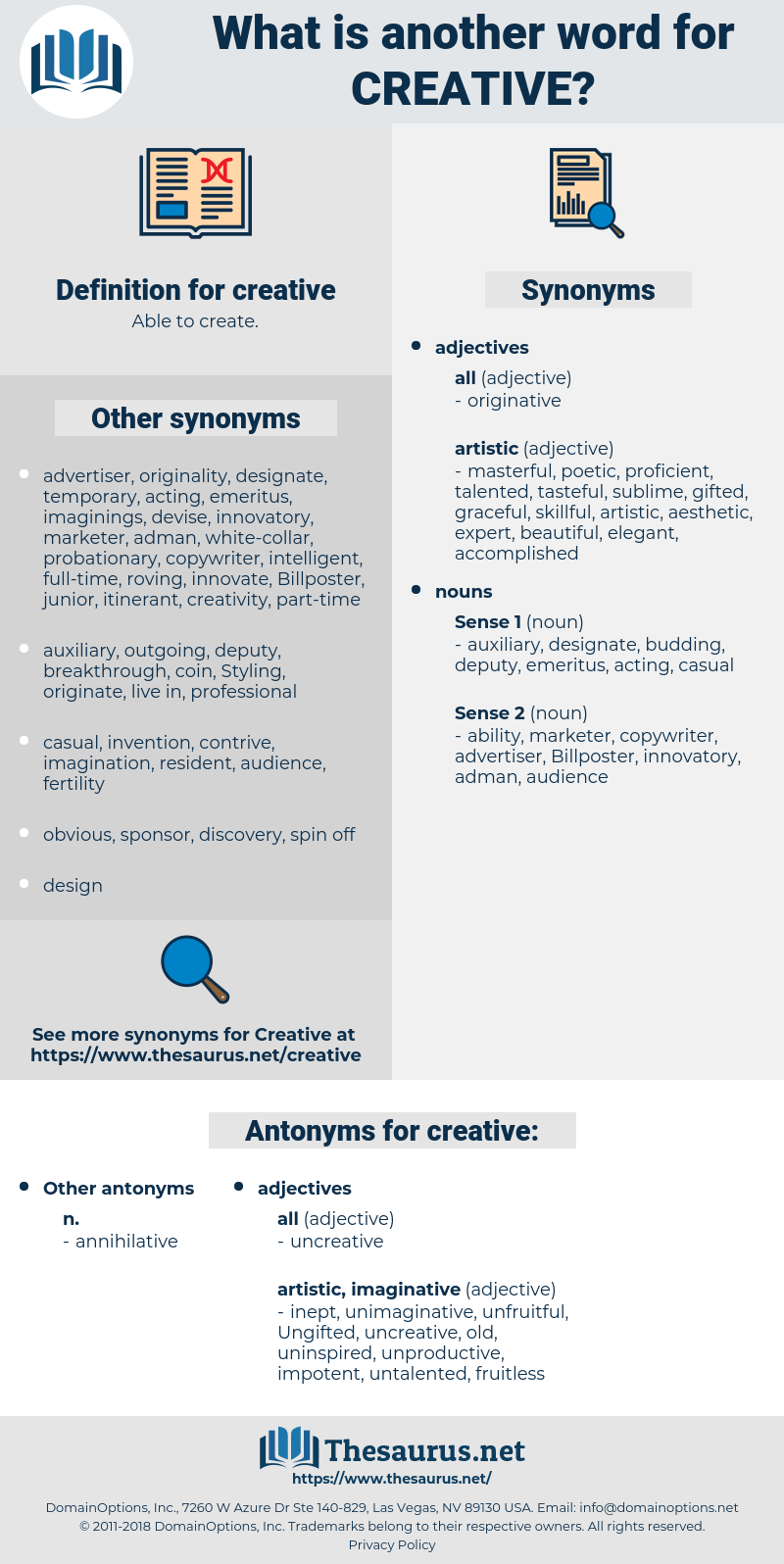 creative, synonym creative, another word for creative, words like creative, thesaurus creative