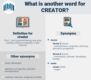 creator, synonym creator, another word for creator, words like creator, thesaurus creator