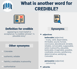 credible, synonym credible, another word for credible, words like credible, thesaurus credible