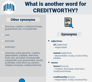 creditworthy, synonym creditworthy, another word for creditworthy, words like creditworthy, thesaurus creditworthy