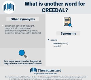 creedal, synonym creedal, another word for creedal, words like creedal, thesaurus creedal
