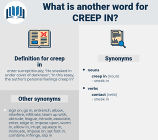 creep in, synonym creep in, another word for creep in, words like creep in, thesaurus creep in