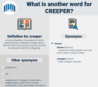creeper, synonym creeper, another word for creeper, words like creeper, thesaurus creeper