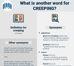creeping, synonym creeping, another word for creeping, words like creeping, thesaurus creeping
