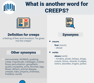 creeps, synonym creeps, another word for creeps, words like creeps, thesaurus creeps