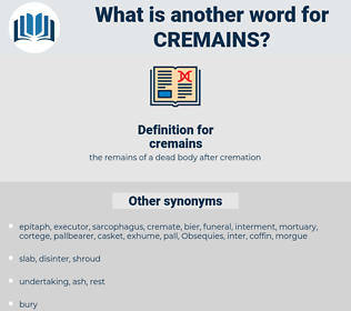 cremains, synonym cremains, another word for cremains, words like cremains, thesaurus cremains