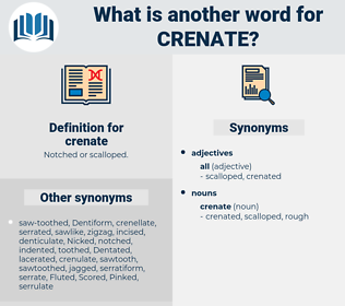 crenate, synonym crenate, another word for crenate, words like crenate, thesaurus crenate