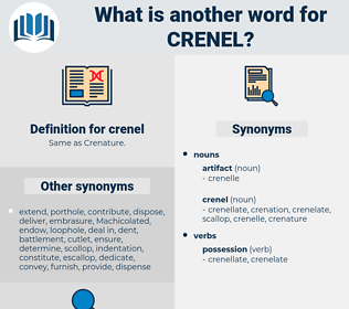 crenel, synonym crenel, another word for crenel, words like crenel, thesaurus crenel