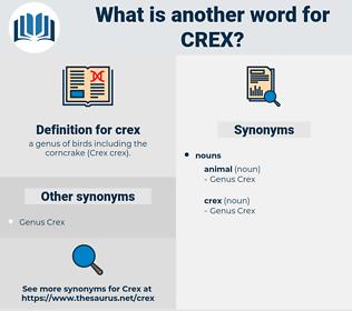crex, synonym crex, another word for crex, words like crex, thesaurus crex