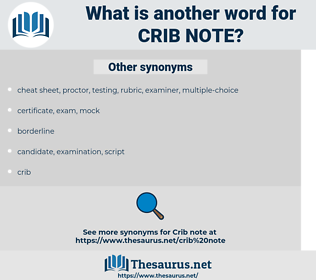 crib note, synonym crib note, another word for crib note, words like crib note, thesaurus crib note