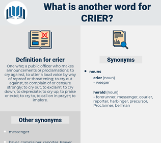 crier, synonym crier, another word for crier, words like crier, thesaurus crier