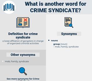 crime syndicate, synonym crime syndicate, another word for crime syndicate, words like crime syndicate, thesaurus crime syndicate
