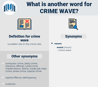 crime wave, synonym crime wave, another word for crime wave, words like crime wave, thesaurus crime wave