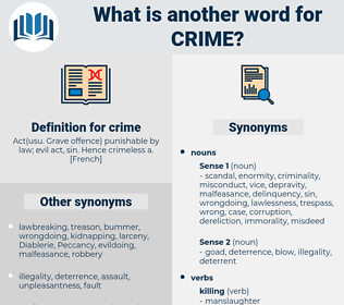 crime, synonym crime, another word for crime, words like crime, thesaurus crime