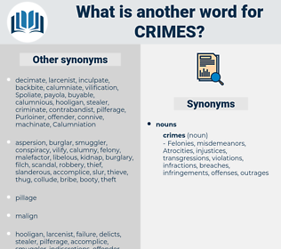 Crimes, synonym Crimes, another word for Crimes, words like Crimes, thesaurus Crimes