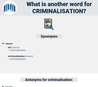 criminalisation, synonym criminalisation, another word for criminalisation, words like criminalisation, thesaurus criminalisation