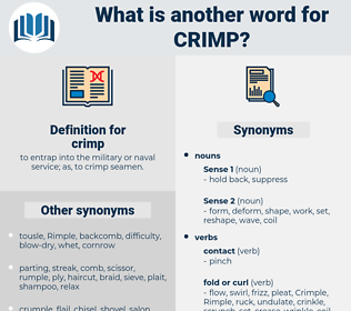 crimp, synonym crimp, another word for crimp, words like crimp, thesaurus crimp