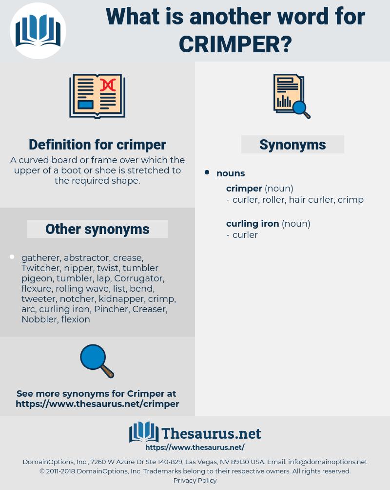 crimper, synonym crimper, another word for crimper, words like crimper, thesaurus crimper