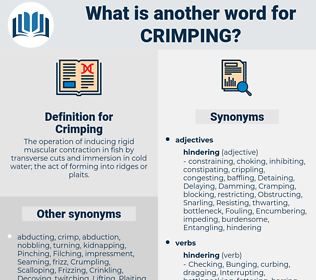 Crimping, synonym Crimping, another word for Crimping, words like Crimping, thesaurus Crimping