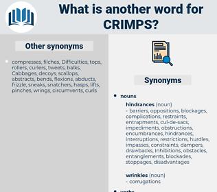 crimps, synonym crimps, another word for crimps, words like crimps, thesaurus crimps