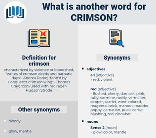 crimson, synonym crimson, another word for crimson, words like crimson, thesaurus crimson