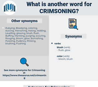 Crimsoning, synonym Crimsoning, another word for Crimsoning, words like Crimsoning, thesaurus Crimsoning