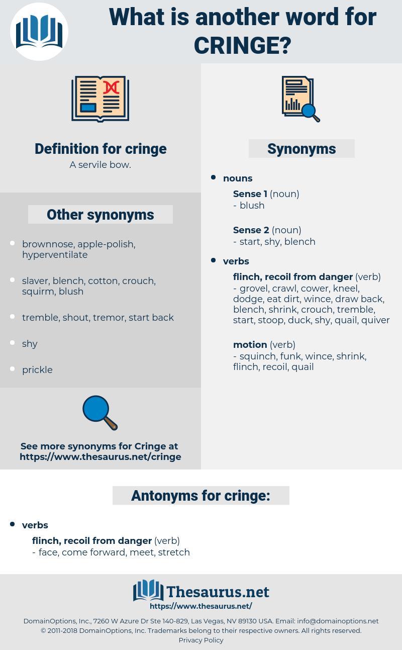 cringe, synonym cringe, another word for cringe, words like cringe, thesaurus cringe